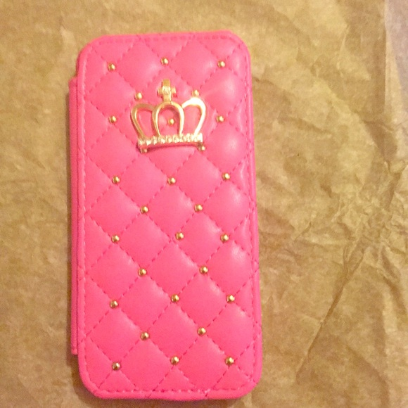 Accessories - Pink Crown 5C iPhone case.